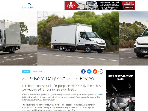 2019 Iveco Daily 45/50C17: Review