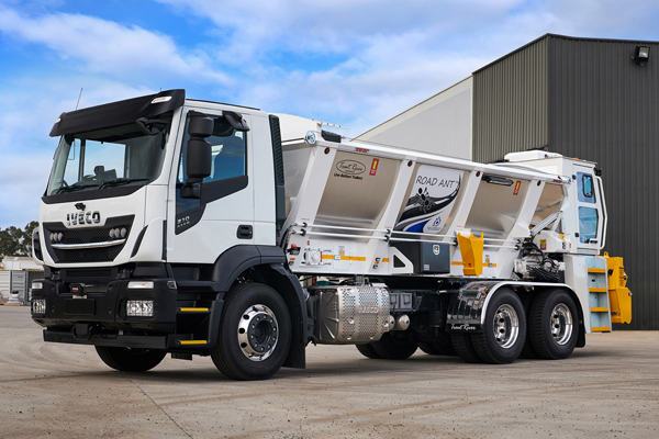 Q-FE partners with IVECO to develop first locally-made aggregate spreader